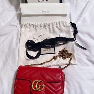 Gucci GG Marmont matelassé leather super